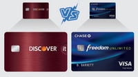Featured image: Discover it Cash Back Card vs. Chase Freedom Unlimited Card