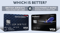 Featured image: British Airways Visa Signature Card vs. Southwest Rapid Rewards Plus Card