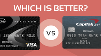 Featured image: Compared: Credit One Bank Unsecured Visa & Capital One Platinum Card