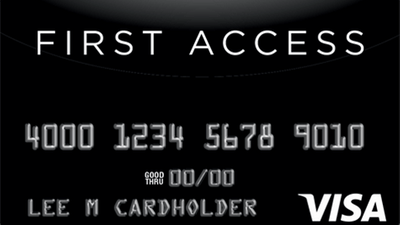 Featured image: First Access Solid Black VISA Credit Card
